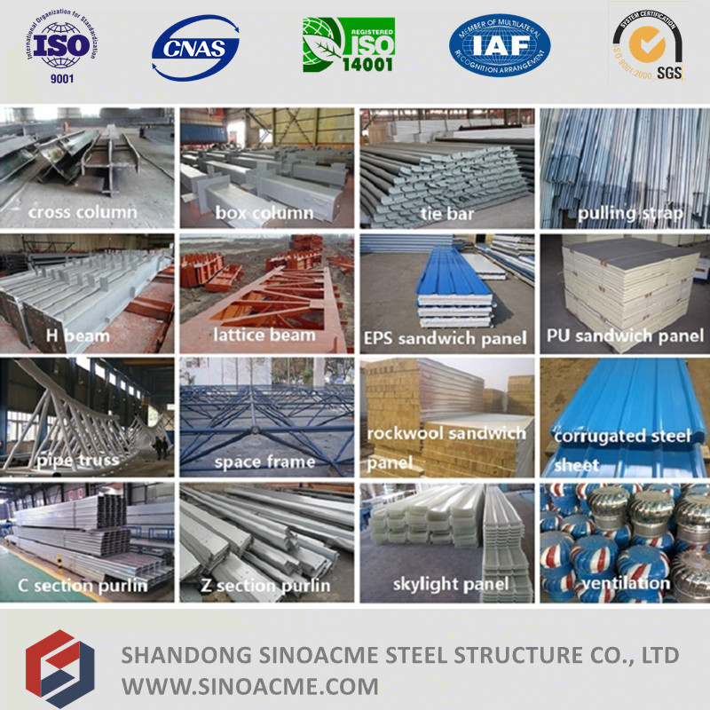 Steel Structure Shed for Commercial with Modeling Design