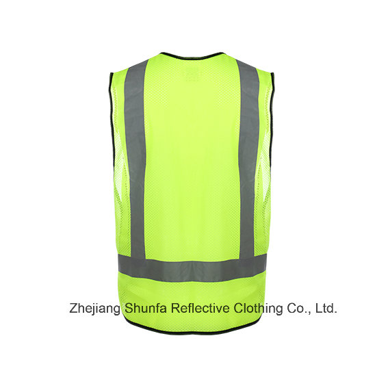 High Visibility Reflective Safety Mesh Vest with Reflective Stape