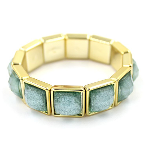 Factory Price Fashion Style Antque Square Gold Matel Bangle Bracelet