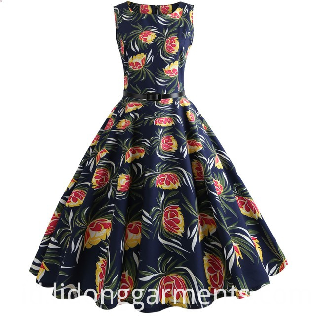 A-Line Flower Lovely Vintage Dress