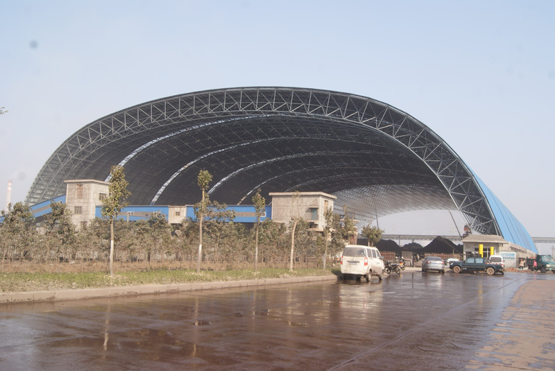 Steel Space Frame for Coal Shed