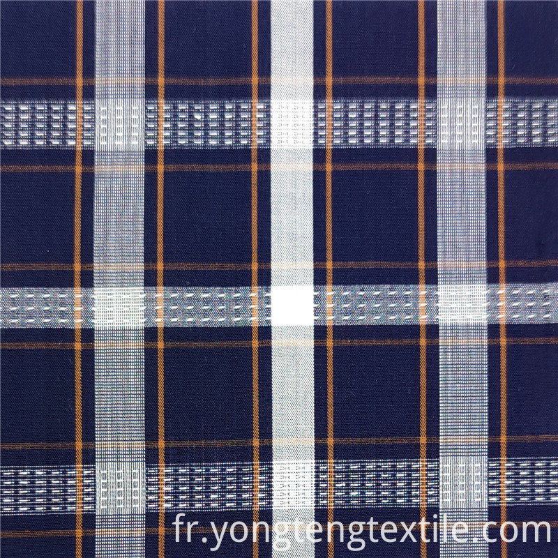yongteng plaid yarn dyed cotton dress fabric women