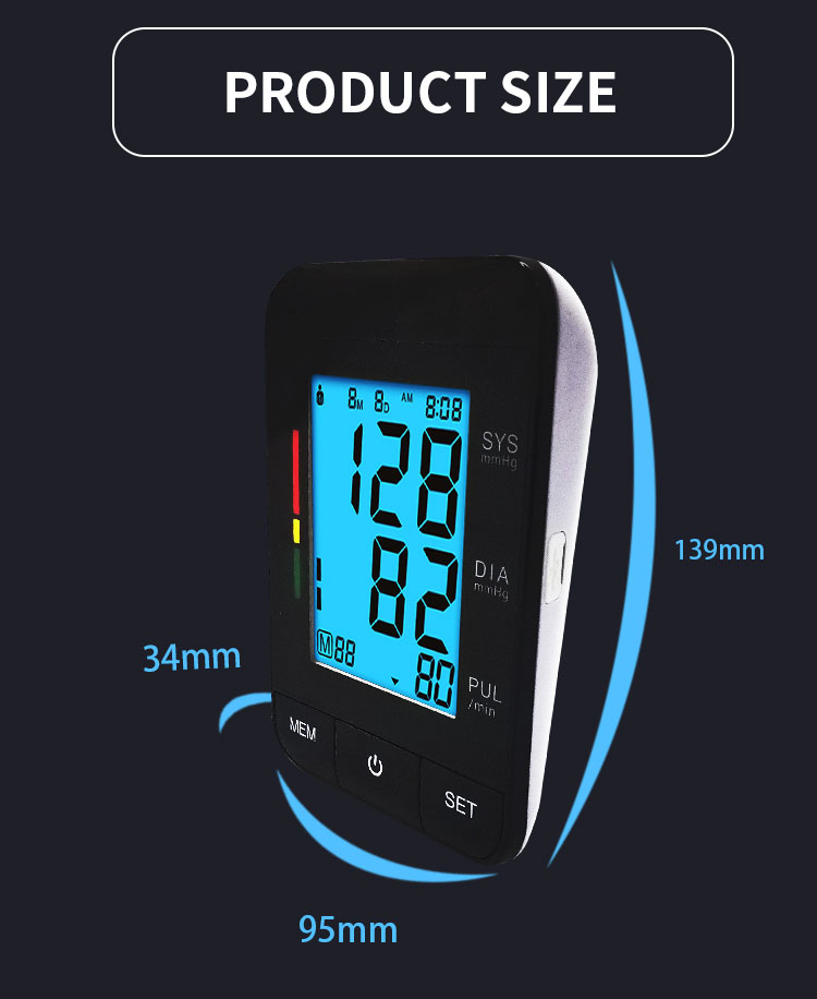 automatic usb arm digital blood pressure monitor