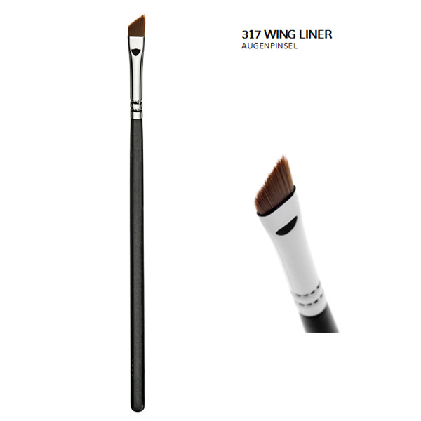 Rose Gold Handle Brow/Wing Eyeliner Brush (E317-R)