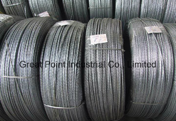 High Tension Hot Dipped Guy Wire Earth Wire Galvanized Steel Wire Strand