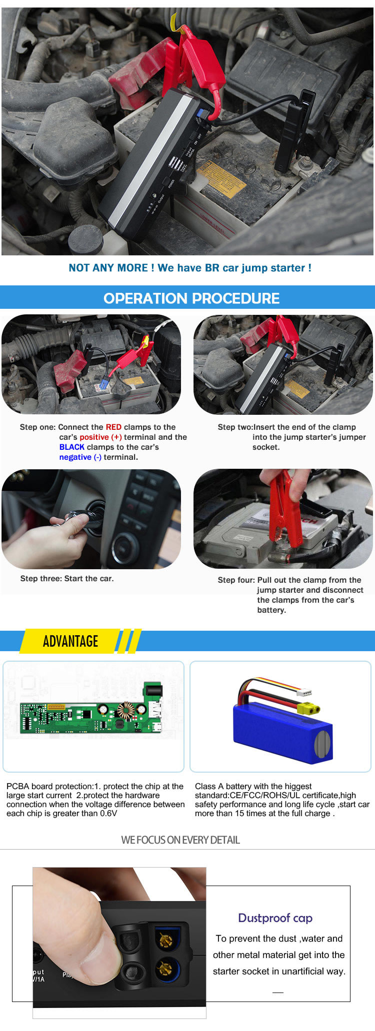 High Quality Auto Parts Portable Car Power Bank