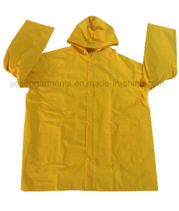 PVC/Polyester PVC Waterproof Outdoor Workwear Clothing Raincoat Rainsuit (RWB03)