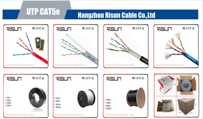 High Performance Network UTP Cat5e Cable with LSZH Jacket Tested to 350MHz