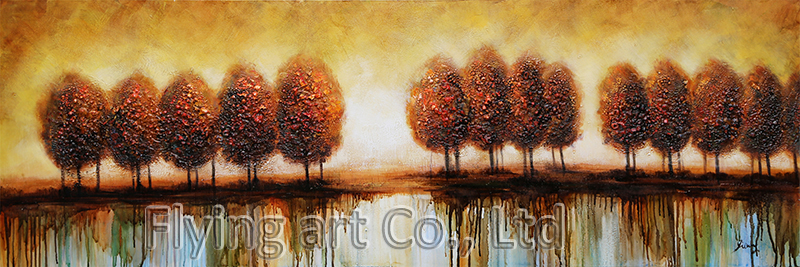 Abstract Reproduction Oil Painting for Trees