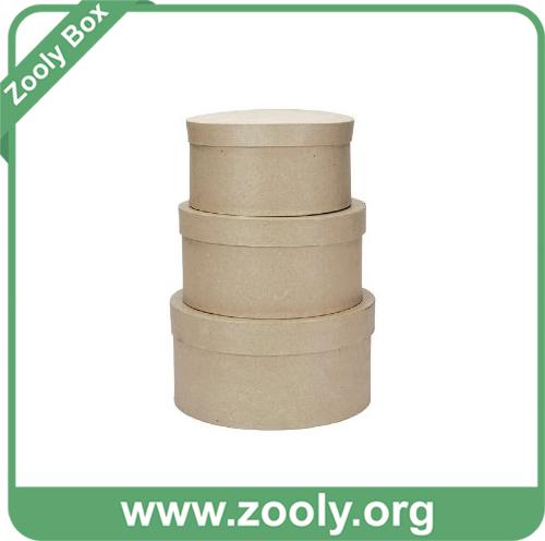 Small Plain Eco-Friendly Natural Brown Kraft Paper Cardboard Box