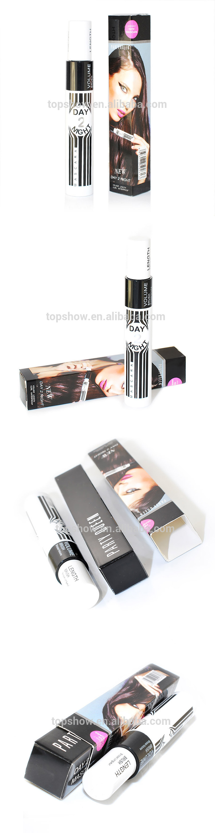2015 New Party Queen Ultimate Combination 2 in 1 Fiber Mascara