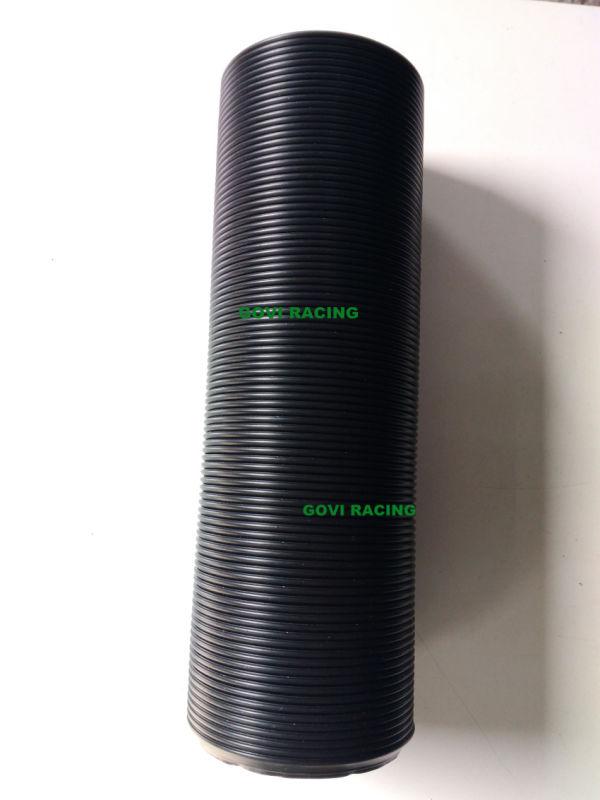 Plastic Flexible Pipe 3'' ID 90cm Extended Length Black Universal