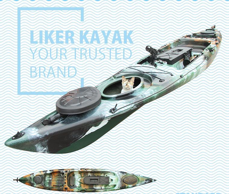 Angler Kayak Boat Seat &Trolley 2in1 4.3m Length