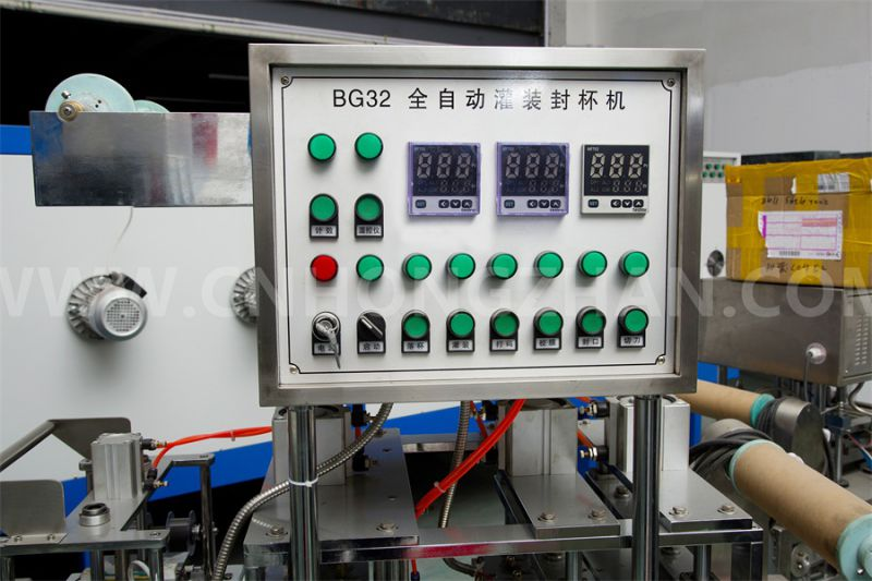 Price for Hongzhan Bg32A Automatic Cup Filling and Sealing Machine