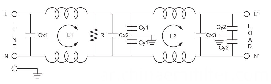 Single Phase Power RFI AC Noise Filter