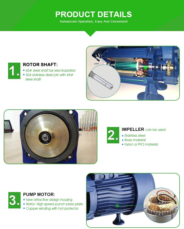 Plastic Body Jet Self Priming Electric Clean Water Pump Garden Use (STP-50)