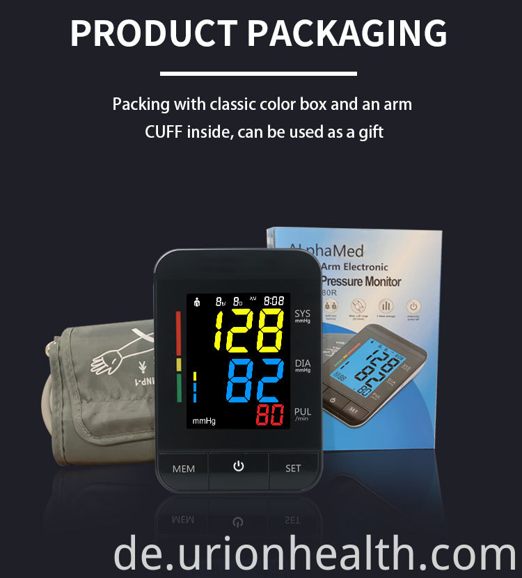 blood pressure monitor packing