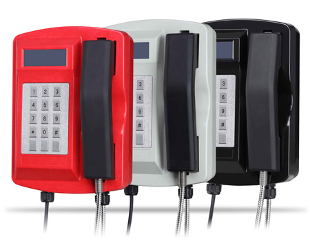 Waterproof Robust Die-Cast Offshore Telephone with Keypad&LCD