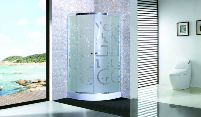 Cheap Shower Enclosure Shower Room with Tray 4mm Matt Glass