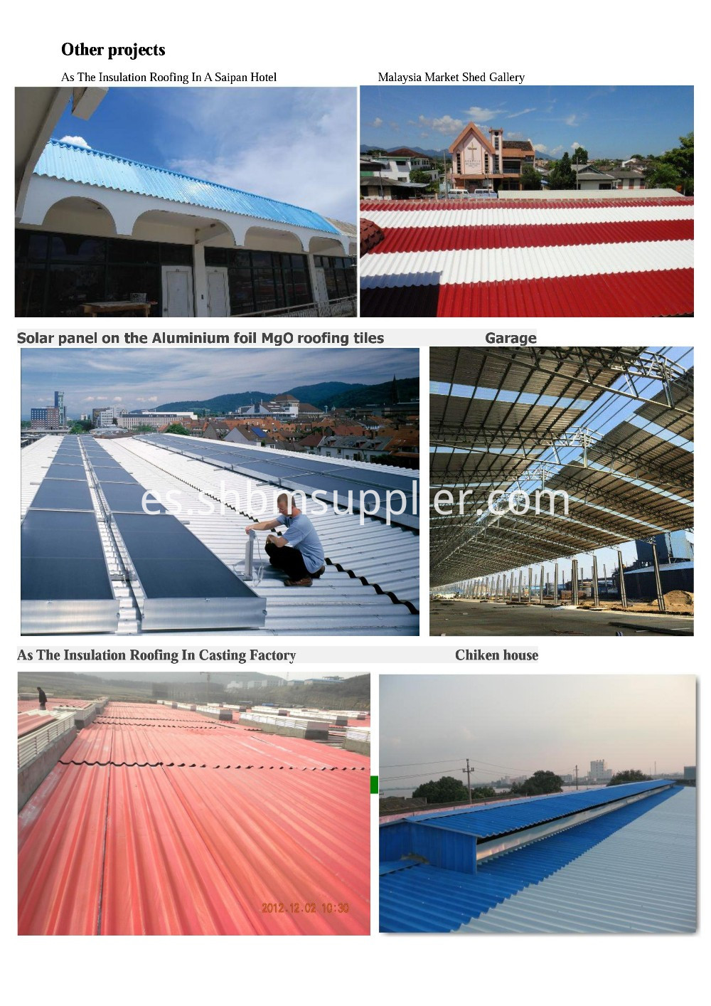Soundproof MgO Roofing Sheets