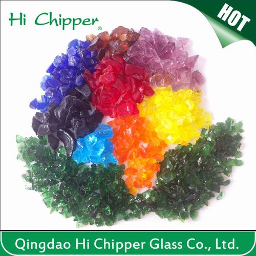 Lanscaping Glass Sand Crushed Colored Glass Chips Decorative Glass