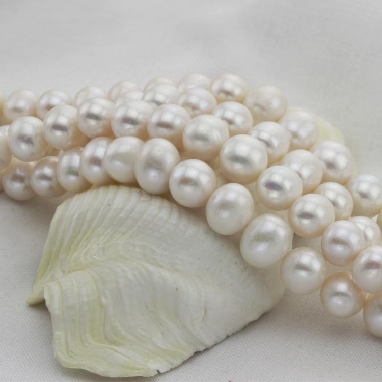 12mm Huge Large Size Natural Freshwater Ivory Pearl String