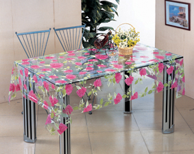 PVC Transparent Tablecloth, PVC Printed Material and Square Shape, Oilproof, Disposable, Waterproof Feature