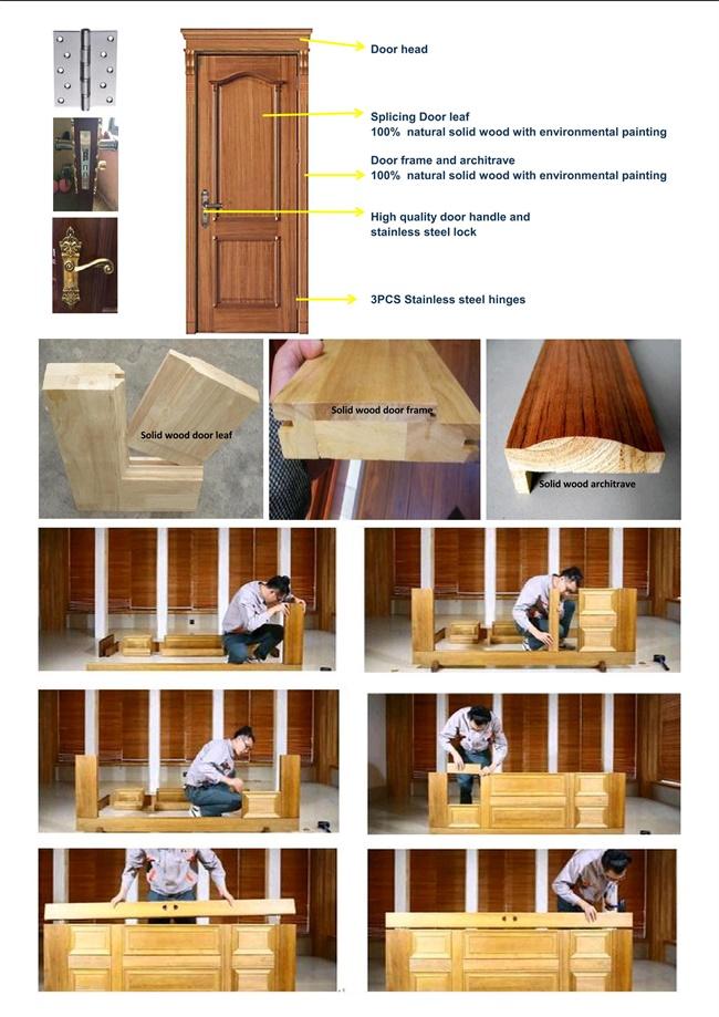 One and Half/Mother Son Solid Wooden Door (RA-N049)
