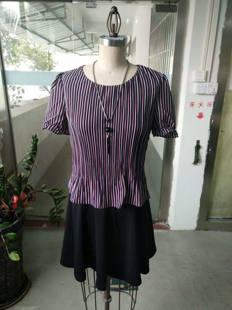 Summer Colourful Striped Beatiful Women's Dress
