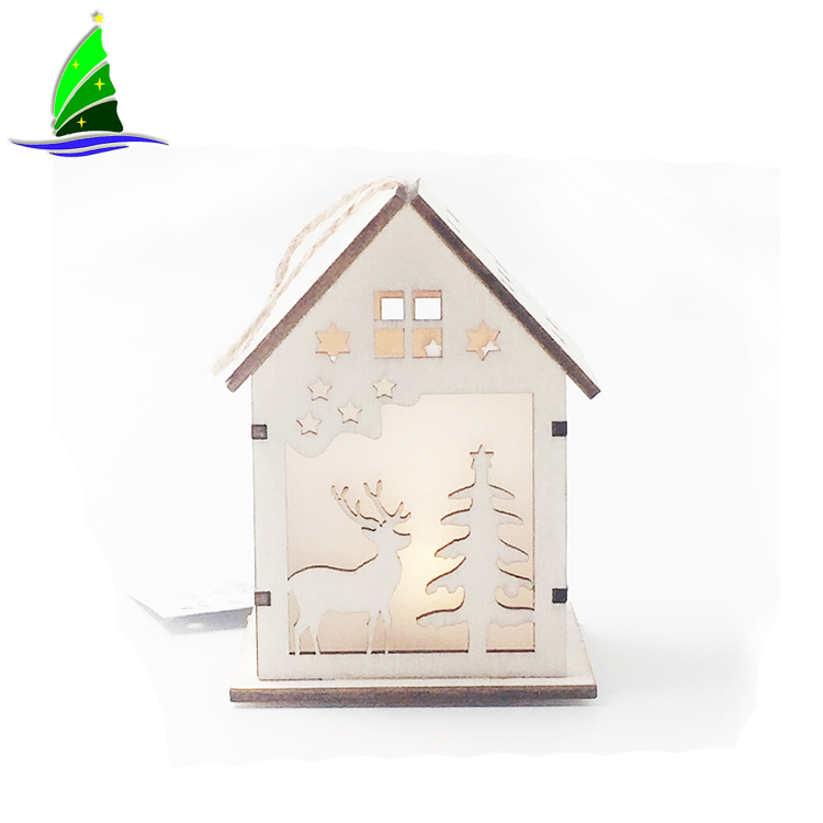 Xmas Tree Mini House Hanging Decor