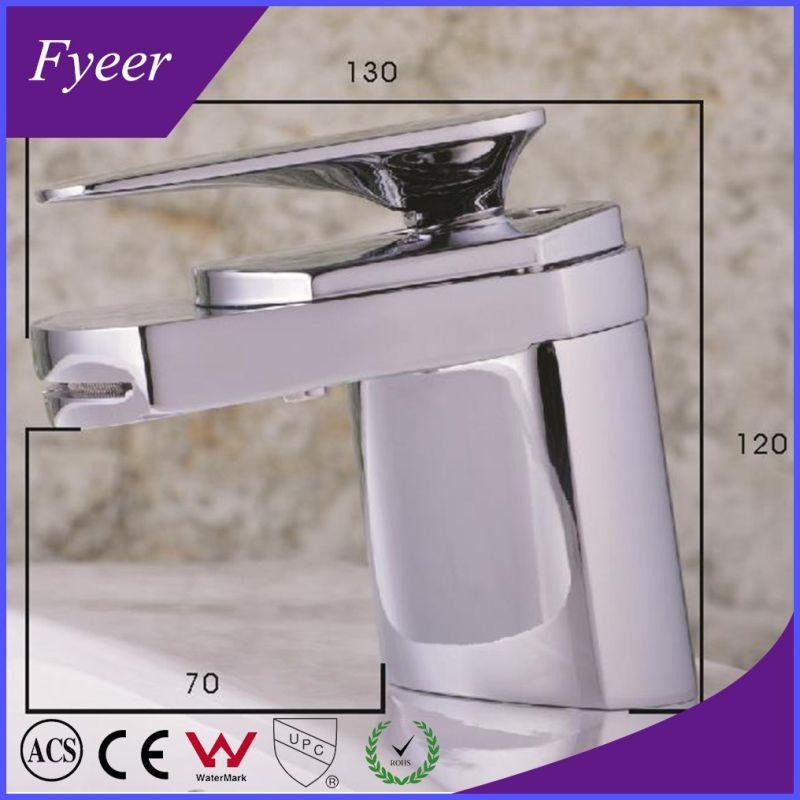 Modern Design High Quality Waterfall Brass Basin Sink Faucet (QH0701)