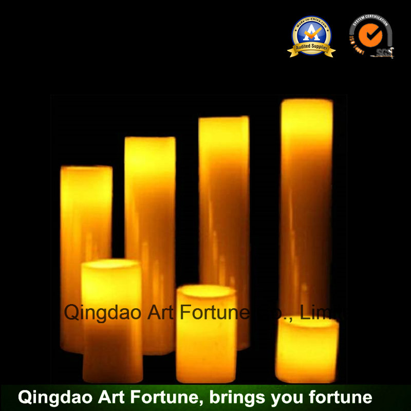Flameless Colorful LED Candle-Dripping Finish Set of 3