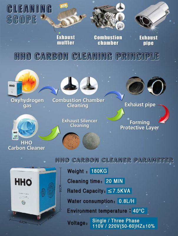 Car Auto Engine Carbon Cleaning Machine