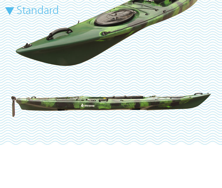 Single PE Roto Moulded Fishing Kayak Pedal Rudder Control Available with Motor to Free Hands