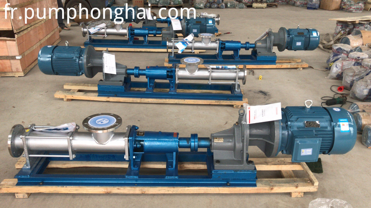 Stainless steel paste screw pump for food industry