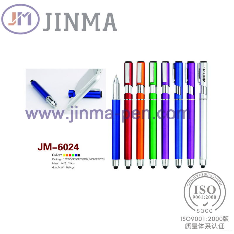 The Most Popular Cellphone Stand Pen Jm-6024 with One Stylus Touch