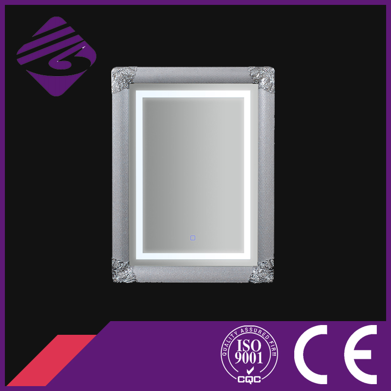 Rectangle Wall Mounted Art Framed Bathroom Mirror with LED