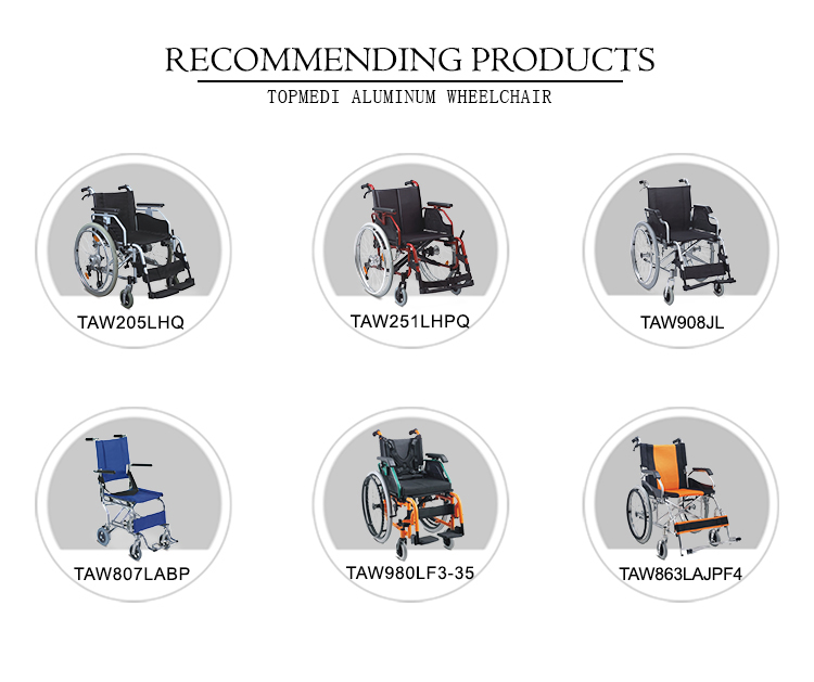 Easy Folding and Carry Aluminum Transport Wheelchair