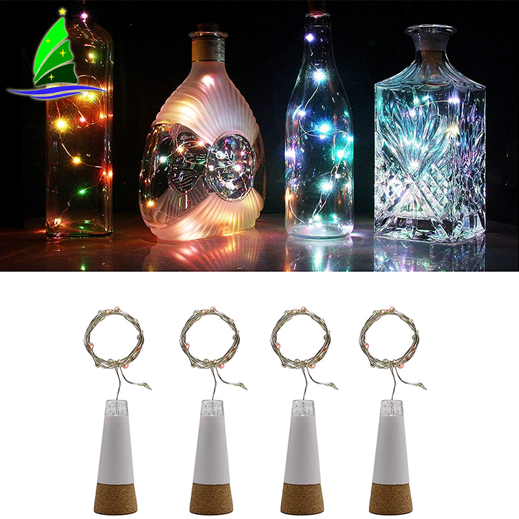 Festivals Glass Bottles with LED Lights