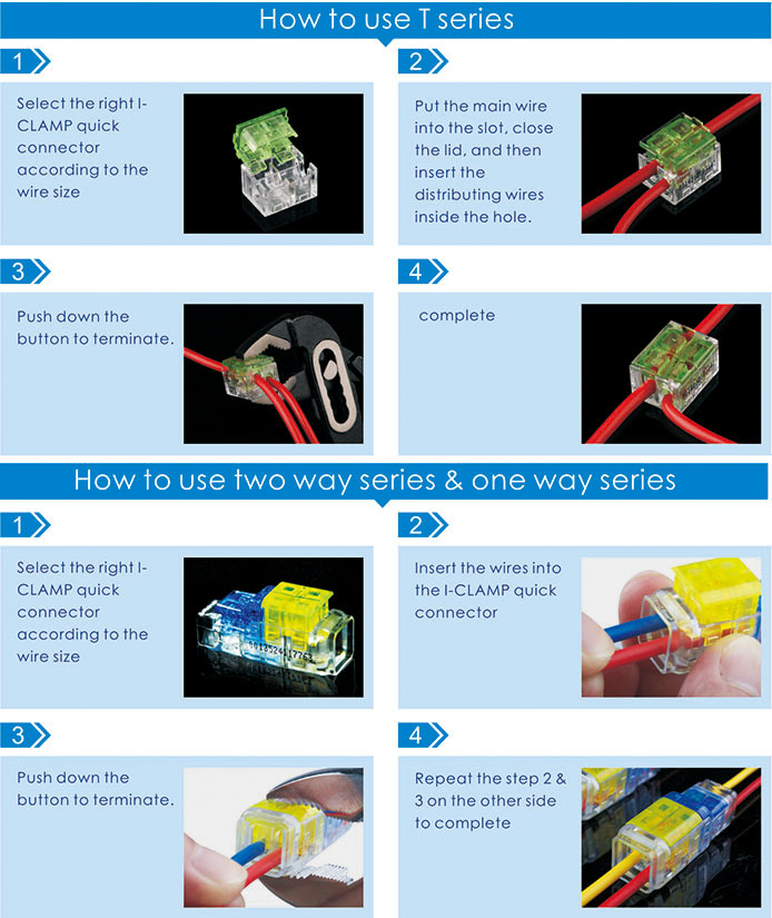 Two Way Series Quick Wire Connector for LED Lighting