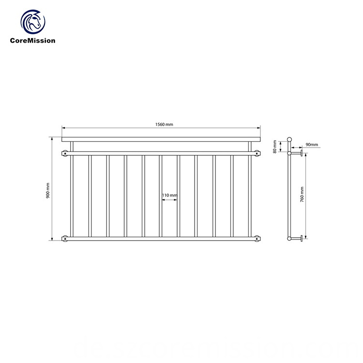 Popular Balcony Stainless Steel Railing Design