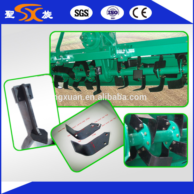 Wide Blades Pto Tractor Tiller for Stubbling and Cultivating
