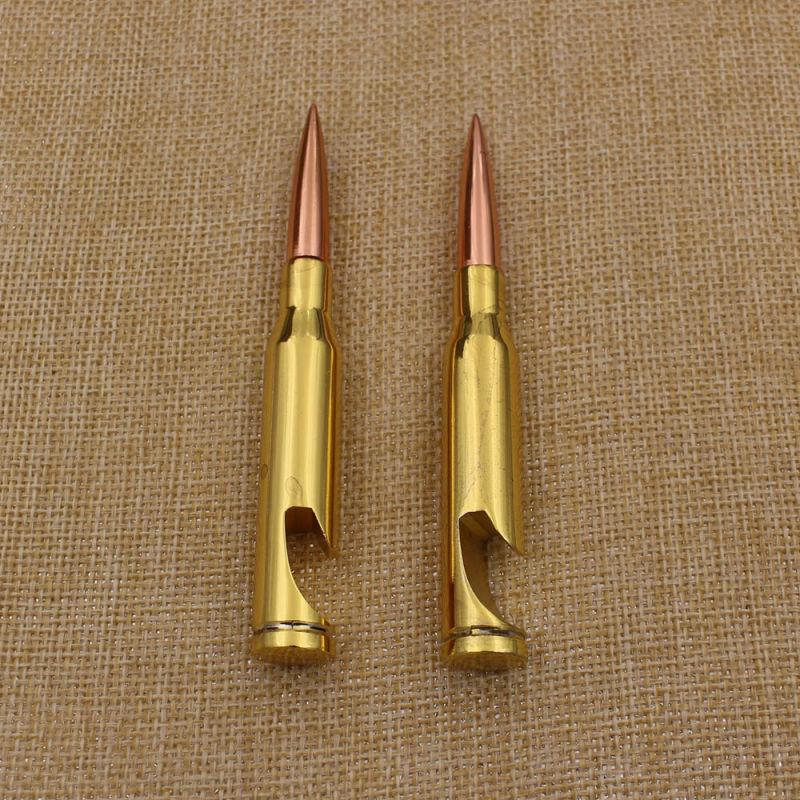 Metal Gifts Beer Gold Bullet Bottle Opener on Sale