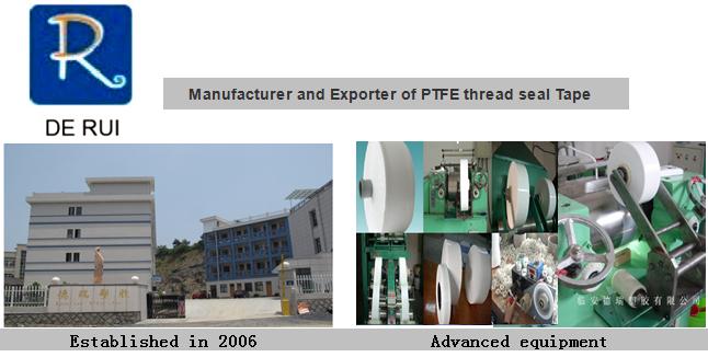 India Thai Peru Teflon Tape PTFE Tape for India Thai Vietnam Market