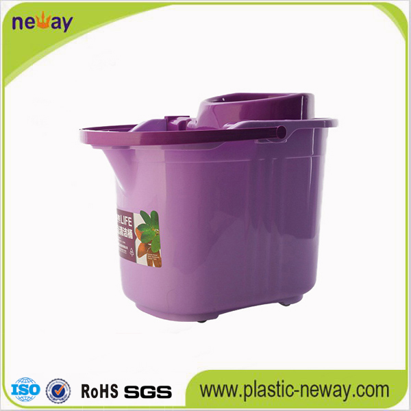 Spin Plastic Mop Bucket with Wheels