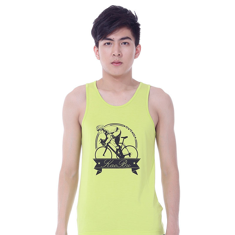 Cheap Price Cotton Y-Back Singlet with Custom Printing