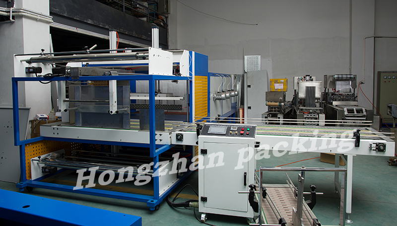 Full Automatic Sealing Heat Shrinking Machine with Sleeve L Bar Cut Seal for PE PVC POF Panel Cigarette Ceramic Big Thing Object