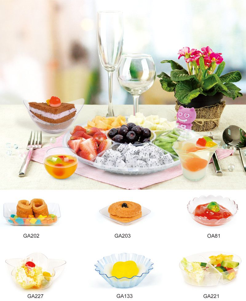 Plastic Disk Disposable Saucer Egg Shaped Tray