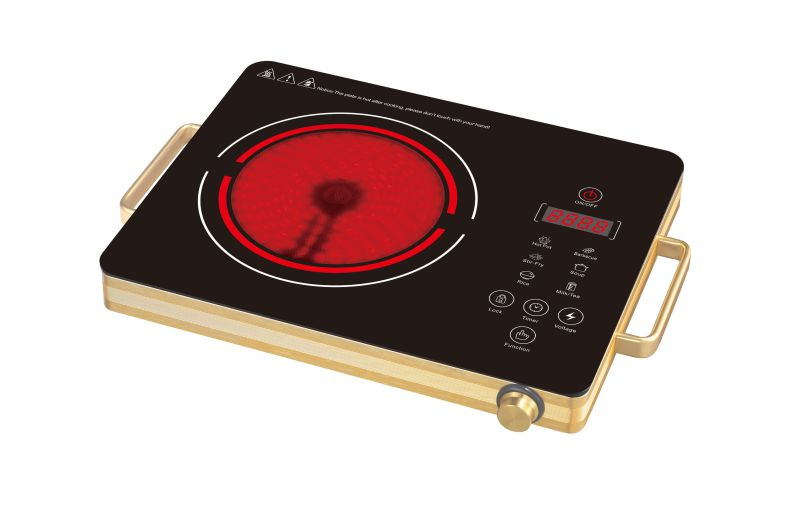 CB CE EMC Approval Sensor Touch Infrared Cooker with Handle Model SM-DT212