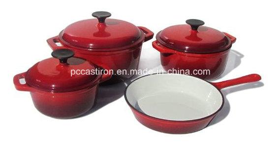 6PCS Enamel Cast Iron Cookware Set Manufacturer From China